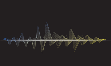 abstract light blue digital equalizer, vector of sound wave pattern element Vectores