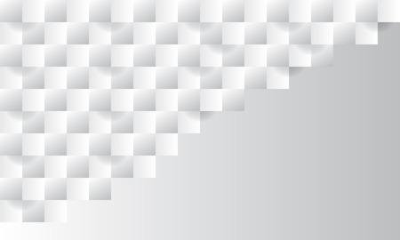 White abstract texture. Vector background 3d paper art style can be used in cover design, book design, poster, cd cover, flyer, website backgrounds or advertising. Stock Illustratie