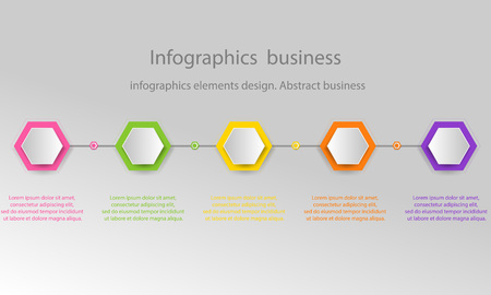 Modern 3D infographic template with 5 steps. Business circle template with options for brochure, diagram, workflow, timeline, web design