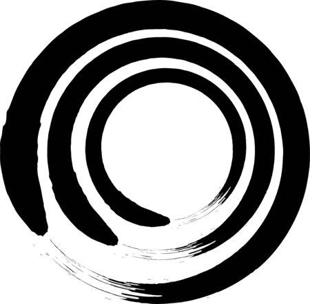 Japanese Enso Zen Circle Brush Vector. Stock Illustratie