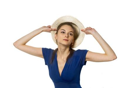decolette: Coquette fitting straw cap