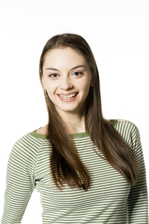 Smiling attractive girl - portrait Stock Photo