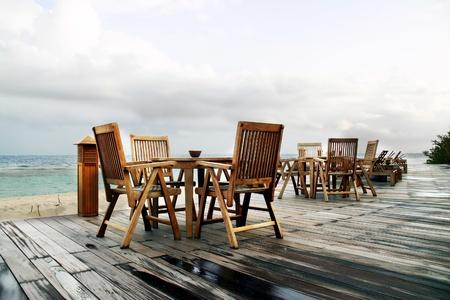 dais: Coastal cafe in ocean