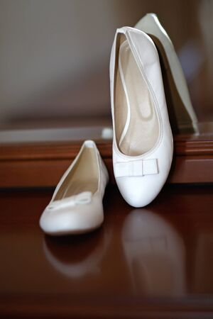 court shoes: Wedding white court shoes