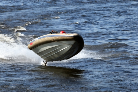 Speesboat on speedsup the race
