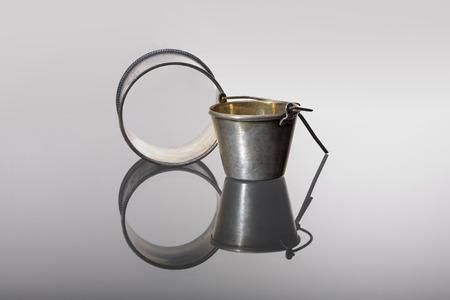 napkin ring: Silver napkin ring ans tea strainer