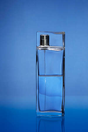metall and glass: Bottle with eau de toilette spray