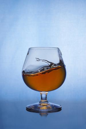 cognac: Small splash of cognac in glass