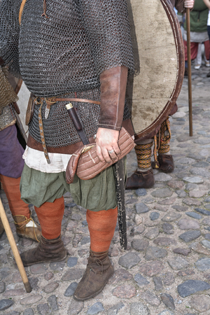 Viking`s soldiers from reconstraction