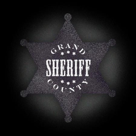 sheriff badge: Sheriff negro insignia Foto de archivo