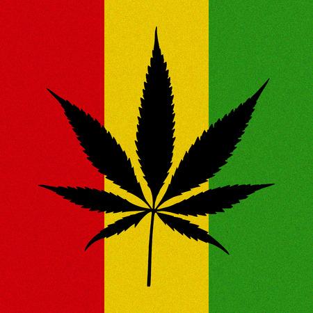 reggae: Creative feuille reggae de cannabis avec effet