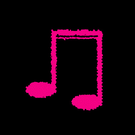 pink and black: Creative music note black pink