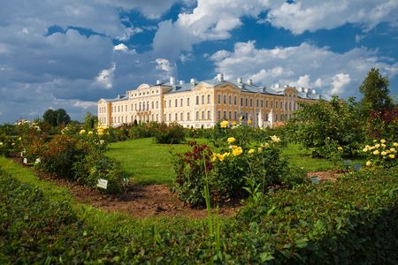rundale: The view of Rundale Palace in sunny day, Latvia, Bauska