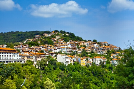 Die Aussicht auf Stadt Veliko Tarnovo, Bulgarien Standard-Bild - 9110728