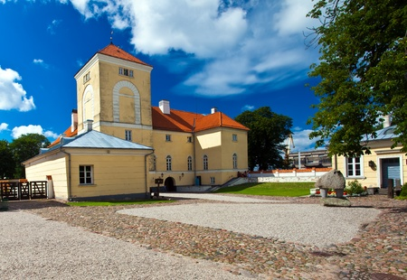 orden: Livonian Orden castle in Ventspils, Latvia.  One of the oldest medieval fortifications in Latvia dating back to 1290. Stock Photo