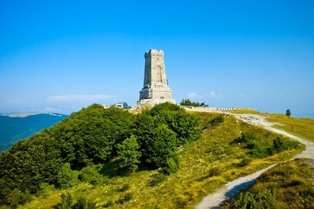 Memorial Shipka view in Bulgaria. Battle of Shipka Memorial