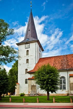 lutheran: Tukums Holy Trinity Lutheran Church in Latvia Stock Photo