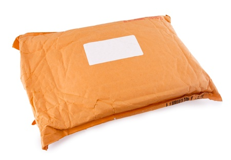 The post parcel isolated on white background Stock fotó