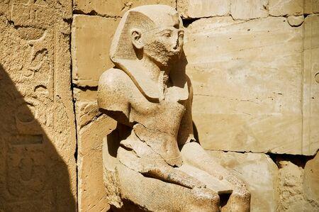 anon: The statue of Ramses in Karnak Temple, Luxor, Egypt