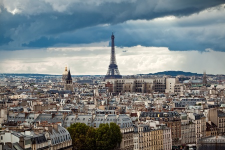 Paris city view with Eiffel Tower, France photo