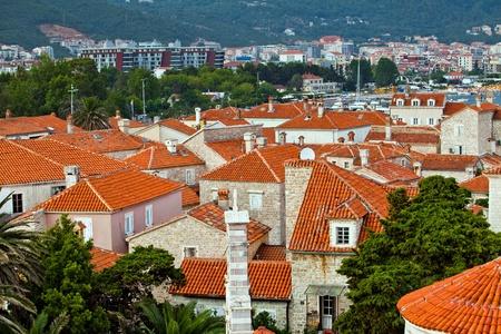 sveti: the landscape of old town Budva, Montenegro