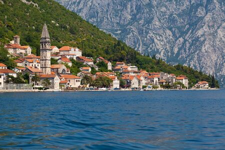 Perast town in Boka Kotor bay. Montenegro photo