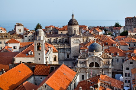 The landscape of Dubrovnik old city, Montenegro Stock fotó