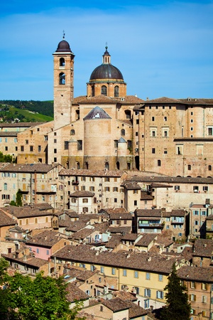 ducale: Palazzo Ducale in medieval city Urbino, Marche Italy