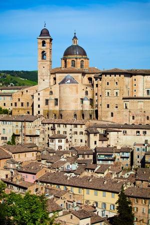 Palazzo Ducale in mittelalterliche Stadt Urbino Italien Standard-Bild