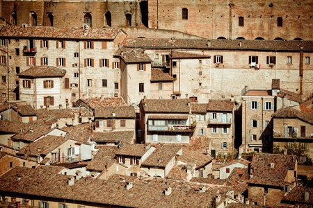 View of medieval town Urbino in Italy