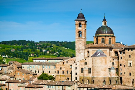 The landscape of medieval town Urbino, Italy Stock fotó