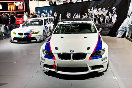 motosport: BMW sport cars presented on 26 August 2010, Moscow, Russia.