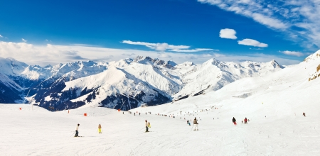 Panorama of Alps mountains in Mayrhofen, Austria