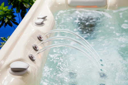 Modern bathtub closeup Stock Photo