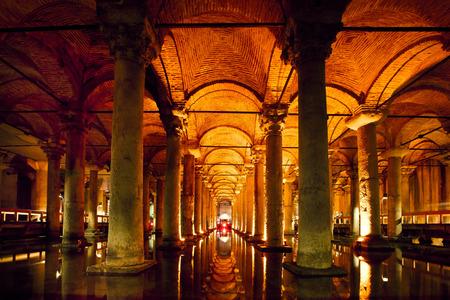 Basilica cistern in Istanbul Editorial