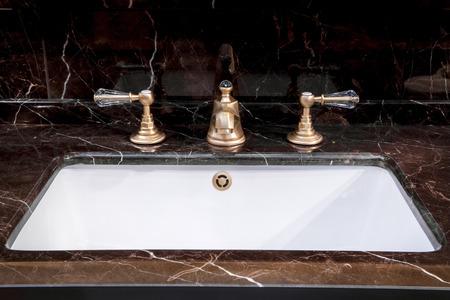toilet sink: A modern bathroom - detail view of bath sink