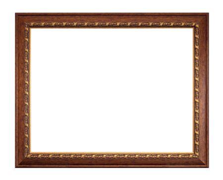 cadre antique: Photo cadre antique isol� sur fond blanc