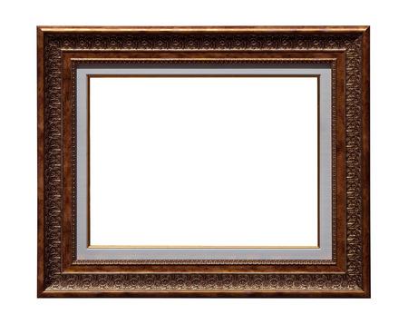 cadre antique: Photo cadre antique isol� sur blanc