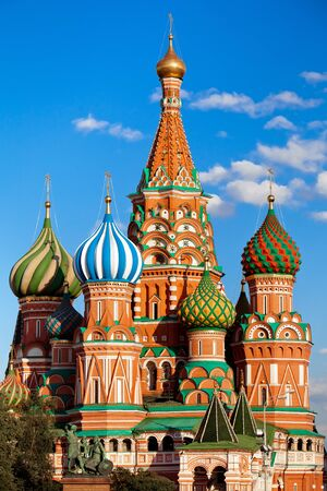 kreml: St. Basils Cathedral on Red square in Moscow, Russia Editorial