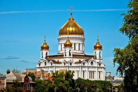 savior: Cathedral of Christ the Savior in Moscow, Russia.