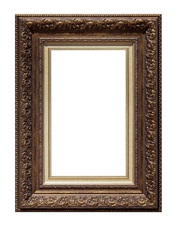 antique frames: Picture antique frame isolated on white