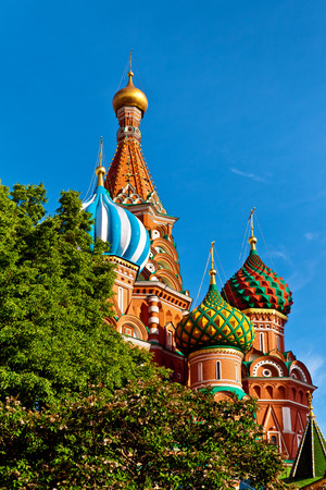 kreml: St. Basils Cathedral on Red square in Moscow, Russia Stock Photo