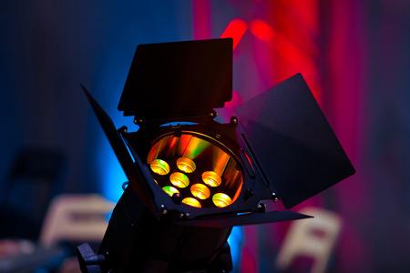 Stage light source closeup