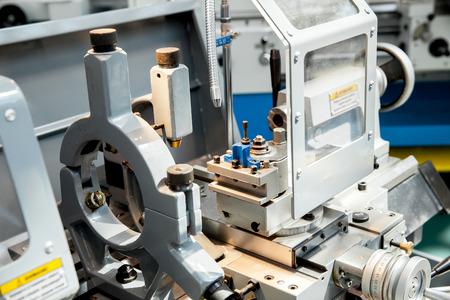 machine tool: Screw-cutting lathe machine closeup