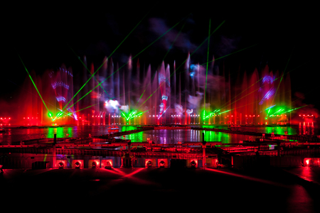 mapped: Laser and fireworks show on International festival Circle of light in Moscow, Russia