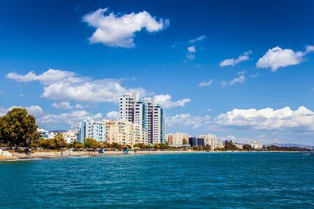 limassol: Limassol city, coastline in Cyprus Stock Photo