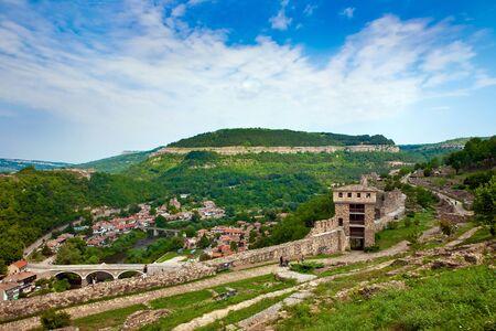veliko: Old town Veliko Tarnovo in Bulgaria Editorial