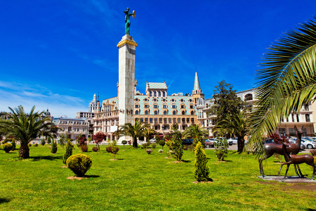Batumi, Georgia의 광장 스톡 콘텐츠