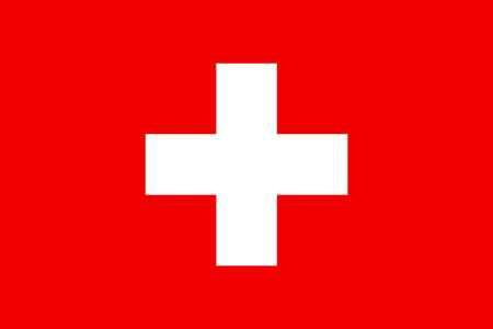 country: Official flag of Switzerland country Stock Photo