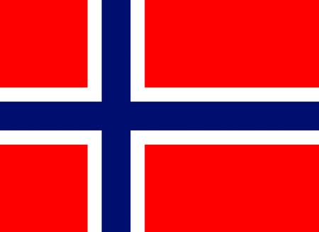 Officiële vlag van Noorwegen land